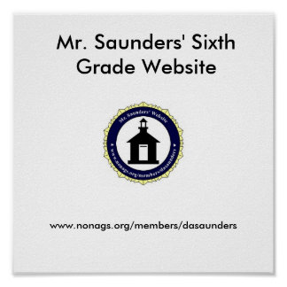Website Mousepad de Sr. Saunders Poster