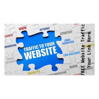Website Traffic Business Card