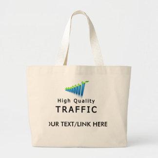 Website Traffic Large Tote Bag
