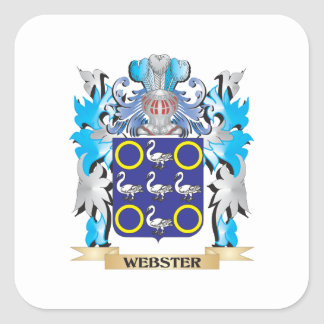 Webster Coat of Arms - Family Crest Square Sticker