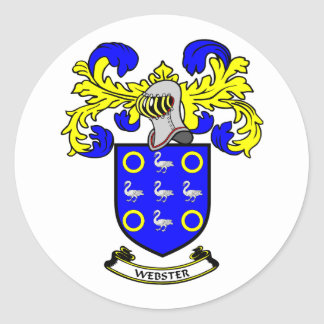 WEBSTER Coat of Arms Classic Round Sticker
