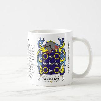 Webster Family Coat of Arms mug