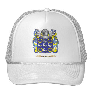 Webster Family Crest (Coat of Arms) Mesh Hats