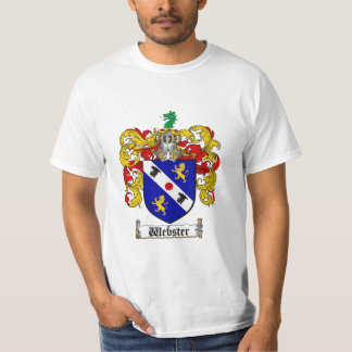 Webster Family Crest - Webster Coat of Arms Tee Shirt