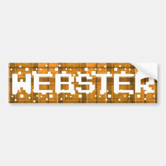 WEBSTER INVADER CAR BUMPER STICKER