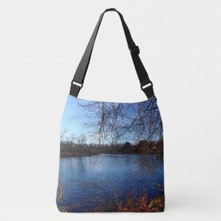 Webster Park Late Autumn Landscape 2015 Crossbody Bag