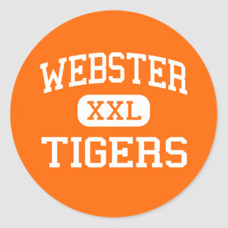 Webster - Tigers - High School - Webster Wisconsin Classic Round Sticker