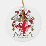 Wechsler Family Crest Christmas Tree Ornaments