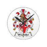 Wechsler Family Crest Round Wallclock