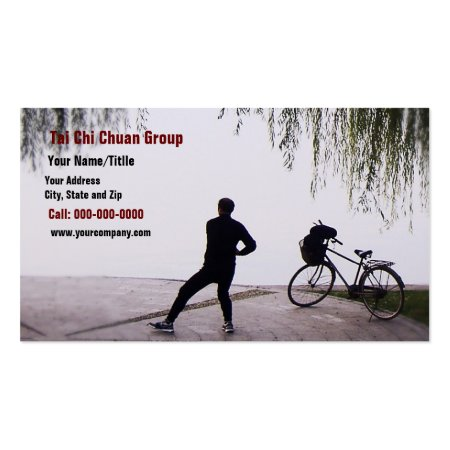 Chinese Man Practicing Tai Chi Business Cards