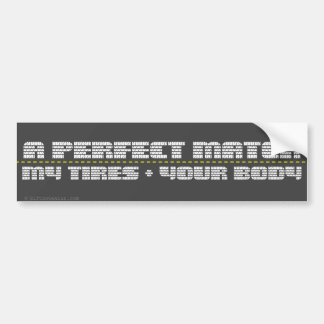 We'd be perfect together bumper sticker