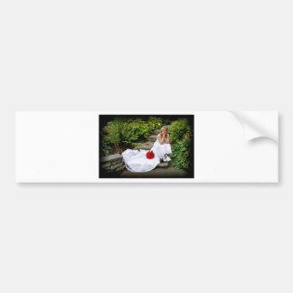 WedBouquetR091810SitStairs Bumper Sticker