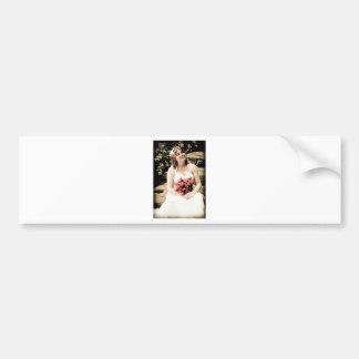 WedBouquetSepiaR091810Close Bumper Sticker