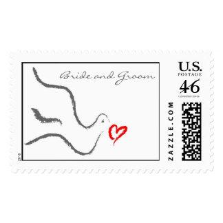 Weddding Dove Postage Stamp