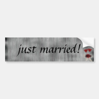 Wedded Bliss Fantasy Wedding Bumper Sticker
