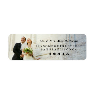 Wedded Bliss Return Address Label