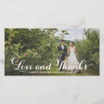 """Wedded Bliss   Wedding Thank You Photo Card<br><div class=""""desc"""">Photographs provided courtesy of &#169;Blush Photography    For more colors and styles visit our shop!</div>"""