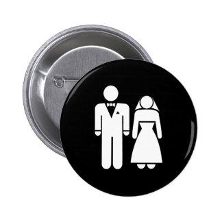 WEDDING01 MARRIAGE WEDDING MAN WOMAN LOVE 2 INCH ROUND BUTTON