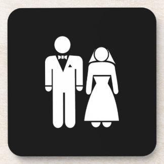 WEDDING01 MARRIAGE WEDDING MAN WOMAN LOVE DRINK COASTER