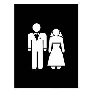 WEDDING01 MARRIAGE WEDDING MAN WOMAN LOVE POSTCARD