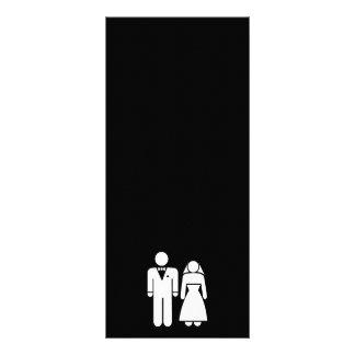 WEDDING01 MARRIAGE WEDDING MAN WOMAN LOVE RACK CARD TEMPLATE