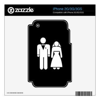 WEDDING01 MARRIAGE WEDDING MAN WOMAN LOVE SKINS FOR iPhone 2G