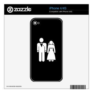 WEDDING01 MARRIAGE WEDDING MAN WOMAN LOVE iPhone 4S SKIN