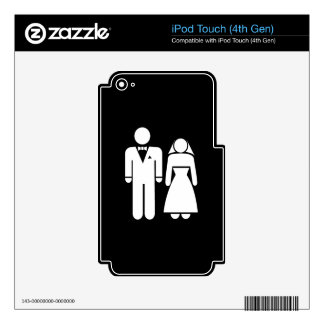 WEDDING01 MARRIAGE WEDDING MAN WOMAN LOVE SKINS FOR iPod TOUCH 4G