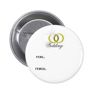 Wedding3 Pin Redondo 5 Cm