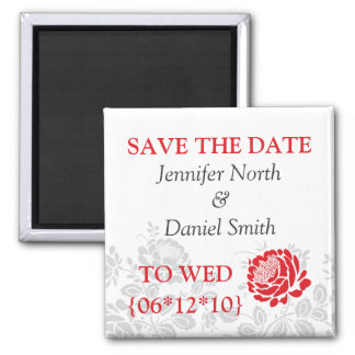 Wedding 2 Inch Square Magnet
