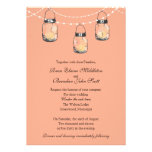 Wedding - 3 Hanging Mason Jars Personalized Announcements
