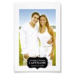 Wedding - 4 x 6 Black and White Border Photographic Print