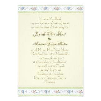Wedding 5x7 Paper Invitation Card