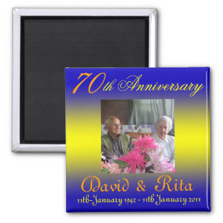 Wedding 70th Anniversary magnet