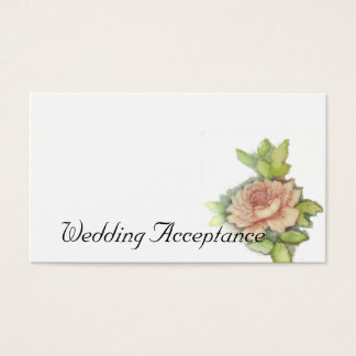 Wedding Acceptance Card-Customize Business Card
