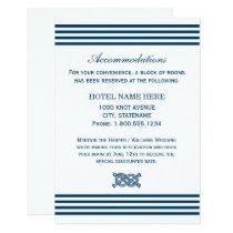 Wedding Accommodation Card | Nautical Stripes