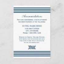 Wedding Accommodation Card   Nautical Stripes