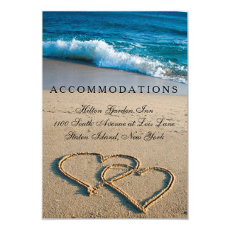 Wedding Accommodations Card Heart on the Shore