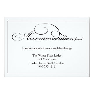 Wedding Accommodations Details Card