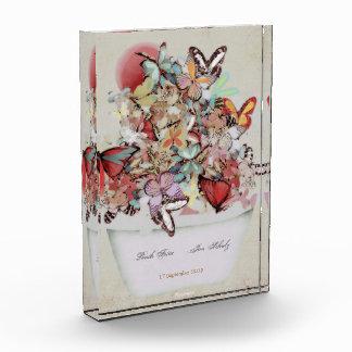 Wedding Acrylic Block Butterflies