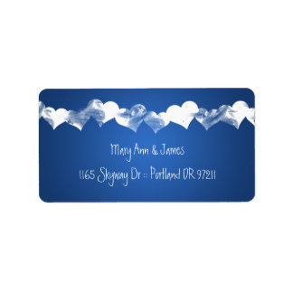 Wedding Address Grunge Hearts Blue Label