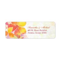Wedding Address Label label