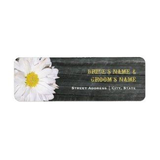 Wedding Address Label - Daisy & Barnwood label