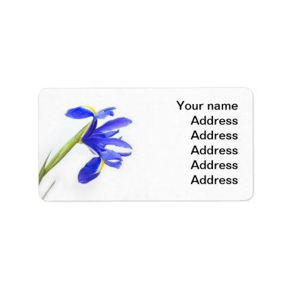 Wedding Address Label - Purple iris flower
