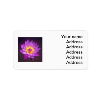 Wedding Address Label - Purple Lotus Flower