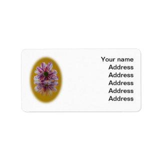 Wedding Address Label - Striped Daisy Gerbra pink