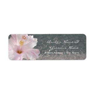 Wedding Address Label - Tropical Beach Destination label