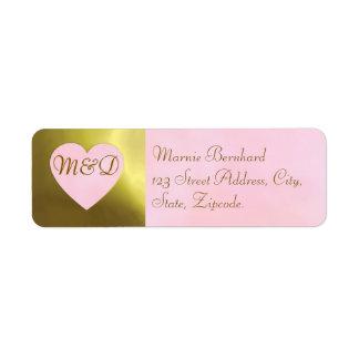 Wedding Address Label | Vintage Rose Pink Set