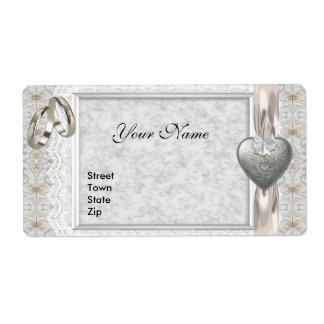 Wedding Address Labels Engagement White Lace