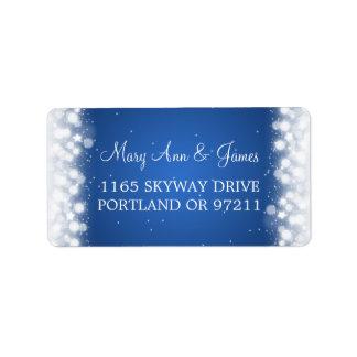 Wedding Address Love Magic Sparkle Blue Personalized Address Label